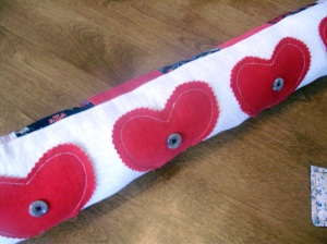 """Hearts"" Decorative Toss Pillow"