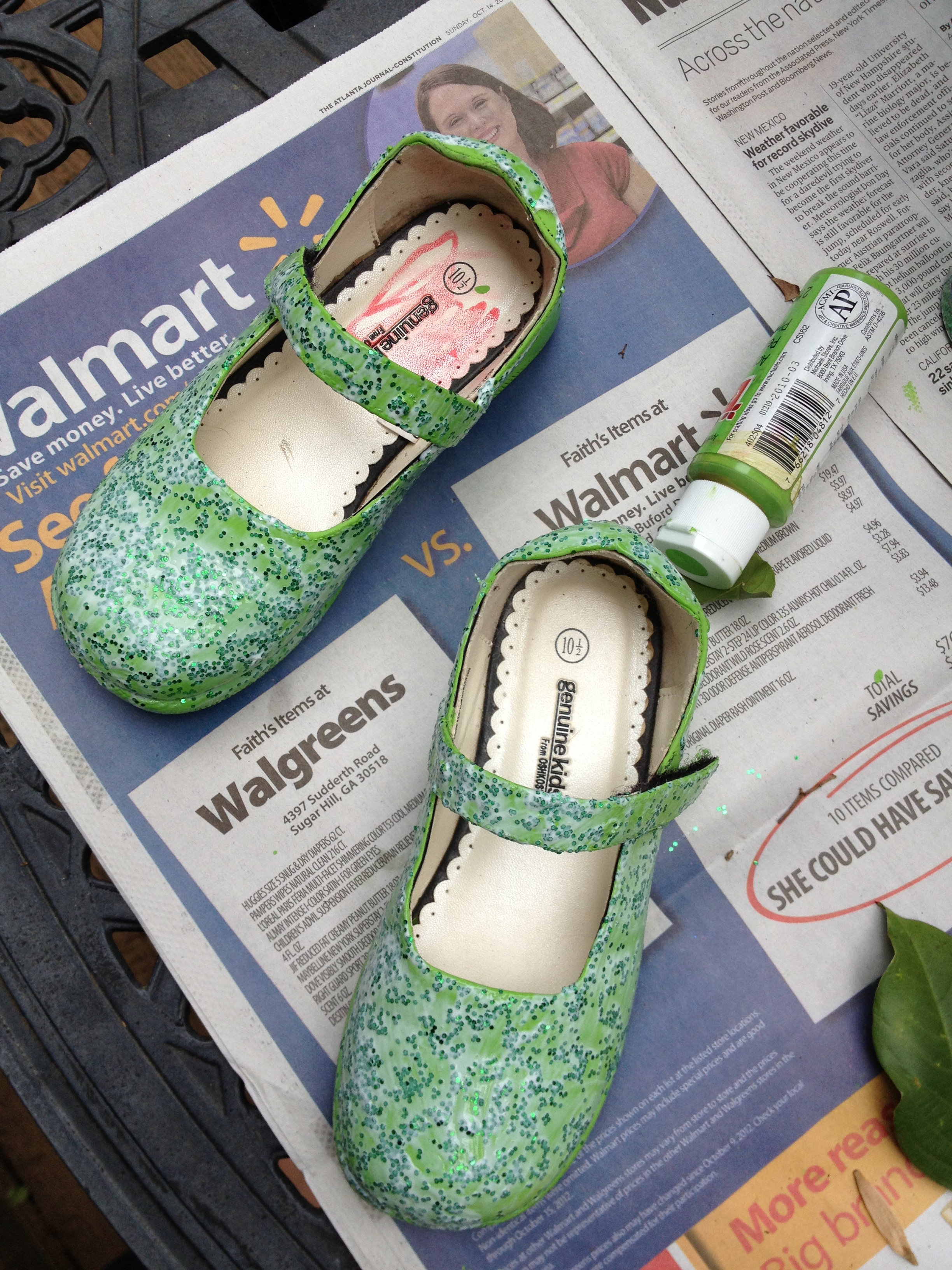 diy tinkerbell shoes