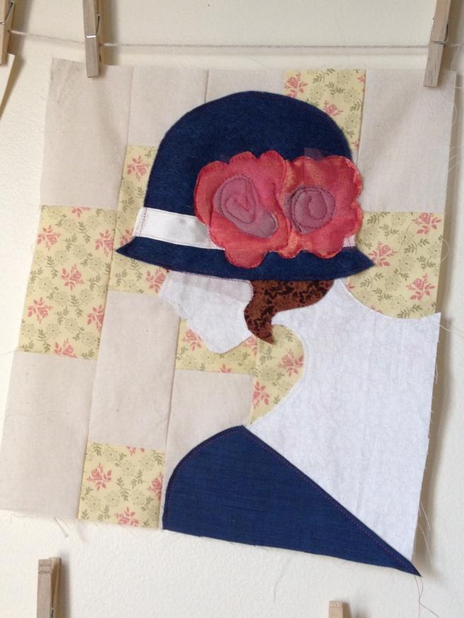 Flapper Art Quilt
